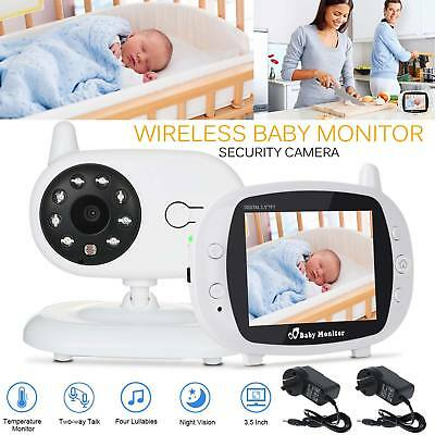 "3.5"" LCD Digital Baby Monitor Audio Wireless Video Security Camera Night Vision"
