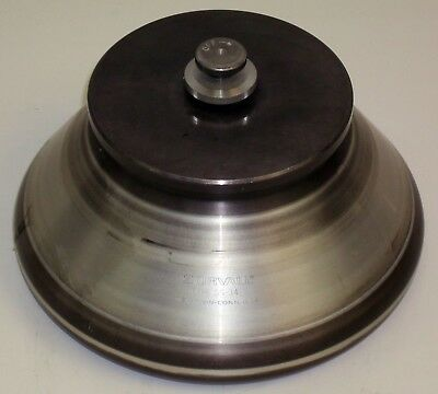 Sorvall SS-34 Centrifuge Rotor. Eight Place, Fixed Angle w Lid - Good Condition.