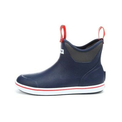 """XTRATUF Performance Series 6"""" Men's Ankle Deck Boots, Navy Red 22733"""
