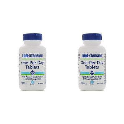 2X Life Extension One Per Day Multivitamin Dietary Supplement Body Healthy Care