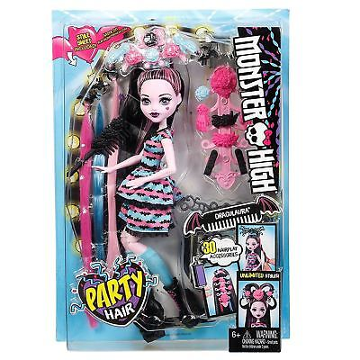 Monster High Fashion Doll Draculaura Party Hair Styles 30 Accessories 28cm