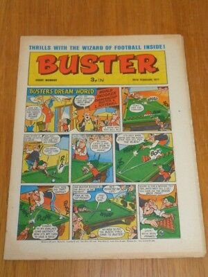 Buster 20Th February 1971 Fleetway British Weekly Comic*