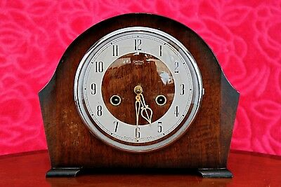 Vintage Art Deco 'Smiths Enfield' 8-Day Mantel Clock with Chimes