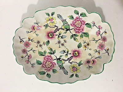 Vintage Old Foley Chinese Rose Candy Dish James Kent England