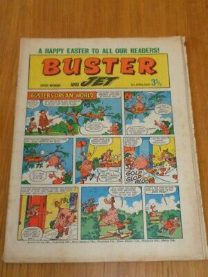 Buster And Jet 1St April 1972 Fleetway British Weekly Comic*