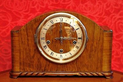 Antique Art Deco 'ENFIELD' 8-Day Mantel Clock with Westminster Chimes