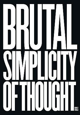 Brutal Simplicity of Thought, Lord Saatchi