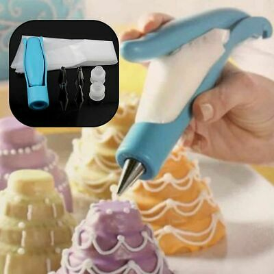 Decorating Pen Pastry Icing Piping Bag Nozzles Tips Fondant Cake Sugarcraft Tool