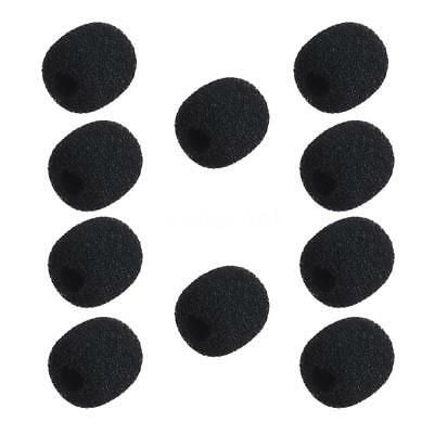 10pcs Mini Small Black Microphone Headset Windscreen Sponge Foam 6-8mm Mic Cover