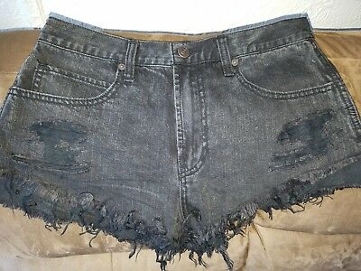 Abercrombie & Fitch Womens Black High Waisted Shorts Size 10 W30