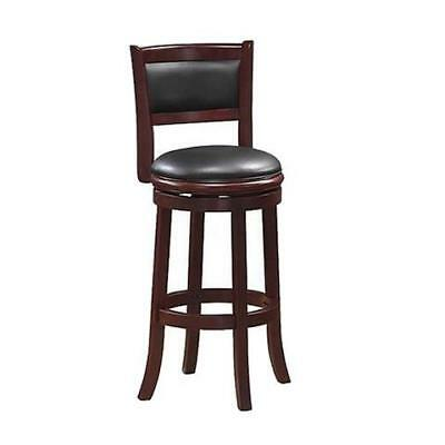 "Augusta Swivel Stool Cherry 19.5""D x 18""W x 37.5""H"