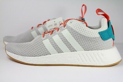 ba78a43883c37 ADIDAS ORIGINALS NMD R2 Summer Cq3080 Crystal White grey gum orange ...