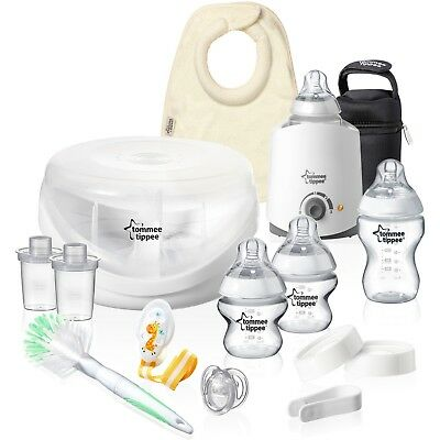 Tommee Tippee Closer to Nature Complete Baby Bottle & Accessory Starter Kit