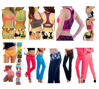 Wholesale Lot Womens Activewear 115 Pieces Yoga Pants Sports Bras Tops Shorts