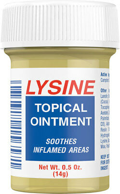 LYSINE TOPICAL OINTMENT LIP BALM - 14 Grams - 0.5oz  COLD SORES FAST DISPATCH 65