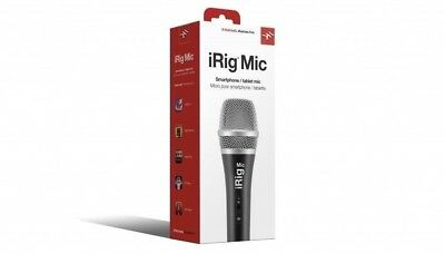 IK Multimedia iRig Mic Handheld Condenser Microphone for iPhone iPad Android NEW