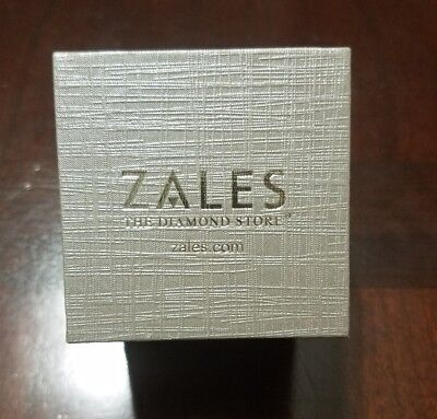 ZALES THE Diamond Store Silver Ringearring Jewelry Box 1500