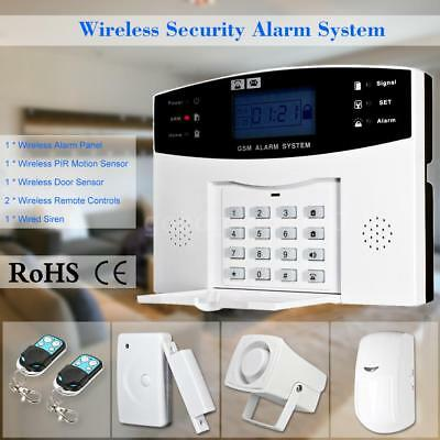 Wireless GSM SMS Home Antifurto Security Alarm System Rilevatore Kit D0X8