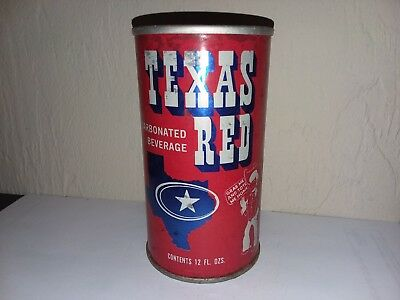 Empty Vintage TEXAS RED CARBONATED BEVERAGE Pull Tab Metal 12oz Soda Can