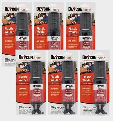 6 New! Devcon 22045 Home Plastic Welder .84 oz. High Strength Adhesive