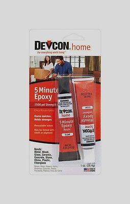 1 oz Devcon 20545 Home Multi Use 5 MINUTE EPOXY High Strength Adhesive CLEAR New