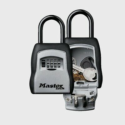 "Master Lock 3-1/4"" W Set Your Own Combination Portable Lock Box Travel 5400D New"