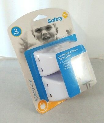 Safety 1st Double Touch Plug Outlet Cover - 2 Outlet Covers NEW & SEALED