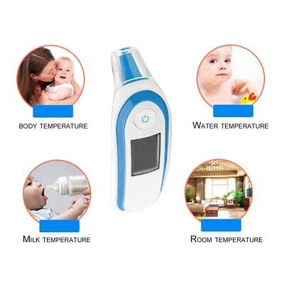 LCD Digital IR Thermometer Infrared Forehead Ear Temperature Meter Baby Adult NP