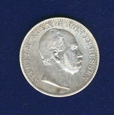 Germany  Prussia  1868-A   1 Thaler  Silver Coin,  Xf