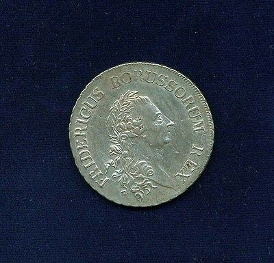 GERMANY PRUSSIA  1786-A  1 TALER/THALER SILVER COIN, XF to ALMOST UNCIRCULATED