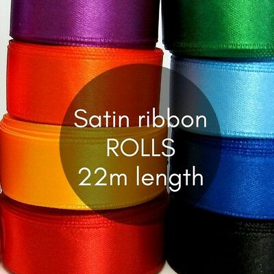 Satin ribbon ROLL 22m long 16mm wide BULK LOT wedding decorations party supplies