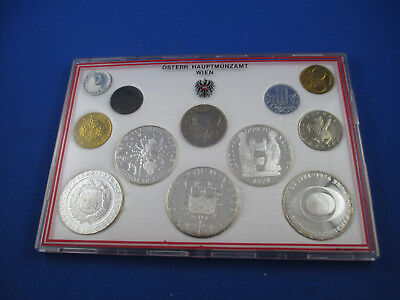 AUSTRIA Brilliant Uncirculated Coin Set. Contains 5 of 50 Shillings