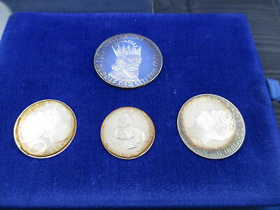 1965 AUSTRIA Brilliant Uncirculated Silver Proof Set of 4 Coin in wallet