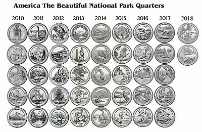 2010 - 2018 ATB P&D Complete Set - 84 COIN SET Hot Spring to Apostle Islands