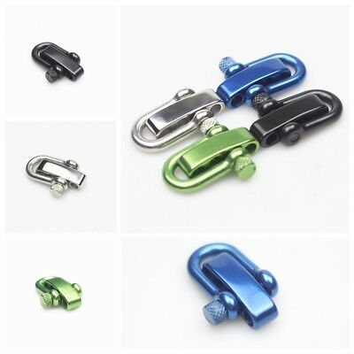 304 Stainless Steel Adjustable U Shaped Shackle Buckle for Survival Paracord 1PC