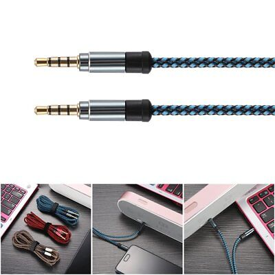 AUX Kabel 3,5 mm Klinkekabel Klinke Stecker STEREO Audio Vergoldet Gold 3M