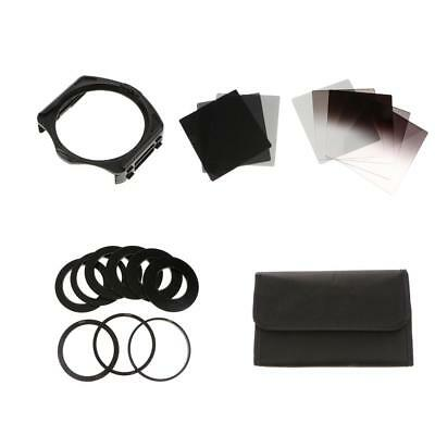 Complete ND 2 4 8 16 Filter Kit for Cokin P + Holder + 9 x Adapter 52mm 58mm