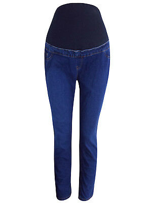 NEW LOOK LADIES OVER BUMP CONTRAST STITCH DENIM MATERNITY JEGGINGS NEW (ref 482)