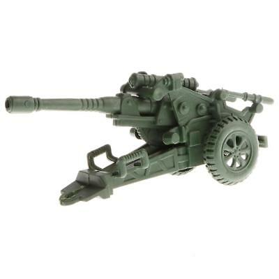 Plastic Military Howitzer Mortar Army Base Model World War II Soldiers Toys