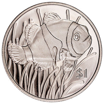 2018 British Virgin Islands Clownfish 28 g Cupronickel $1 Coin GEM BU SKU53012