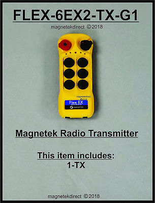 Enrange Overhead Crane Radio Control 3 motion 2 speed Flex 6EX2 Magnetek updated