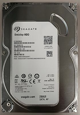 Seagate 250gb 7200RPM SATA DESKTOP HDD