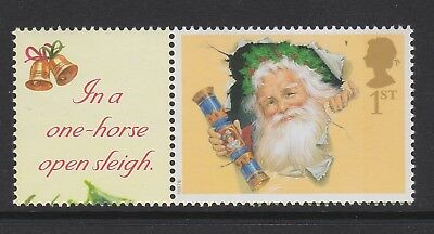 SPECIAL OFFER. GREAT BRITAIN 2002 XMAS 1st + LABEL ex LS10 MNH.