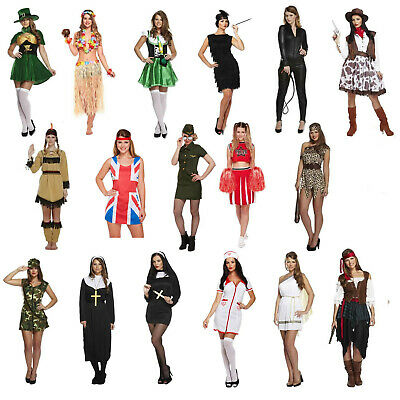 Female Adult Fancy Dress Up Outfits Various Hen Party Party Outfit Freshers NEW