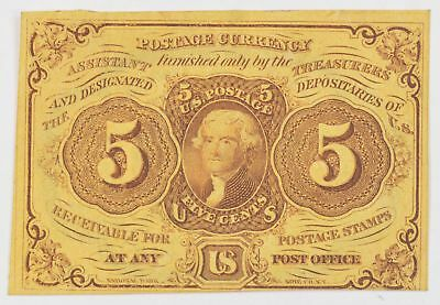 1862-1863 Five Cents 1st Issue Fractional Currency *724