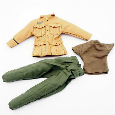 1/6 Scale Uniforms Outfits Coveralls Suit Airborne Jacket WWII Action Figures