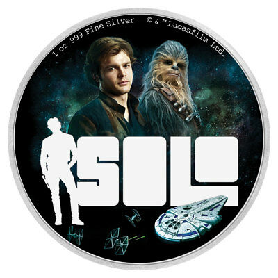2018 Niue Han Solo: A Star Wars Story 1 oz Silver Proof $2 OGP SKU53625