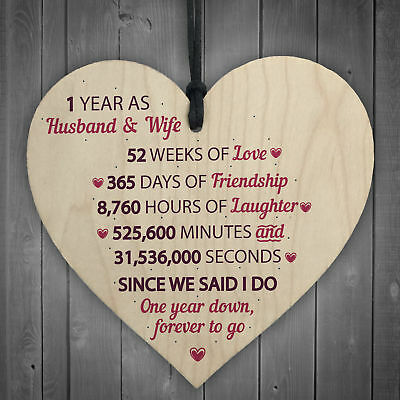 Wedding Anniversary Gift.1st Wedding Anniversary Gift Wooden Heart First Wedding Anniversary Gift For Her