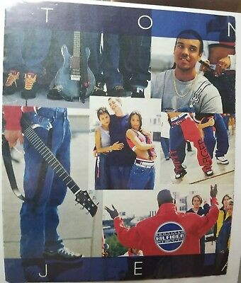 1997 Aaliyah Tommy Hilfiger Ad MAGAZINE  Clipping TOMMY Jeans XXL SOURCE VIBE