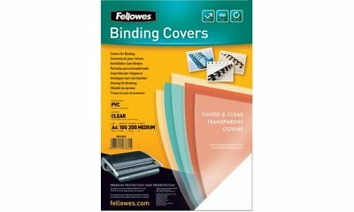 100x Fellowes Deckblatt transparent SUPER CLEAR Binding Covers DIN A4 PVC 0,20mm